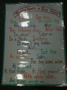 Literacy- instead of using and then or every sentence lol Transition words for writing fairy tales Writer Workshop, Reading Workshop, Transition Words And Phrases, Teaching Narrative Writing, Fourth Grade Writing, Word Poster, Teaching Language Arts, Writing Words, Teaching Tools