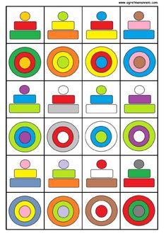 Preschool Learning Activities, Free Preschool, Preschool Worksheets, Preschool Activities, Kids Learning, Visual Perceptual Activities, Math Board Games, Kids Education, Cognitive Activities