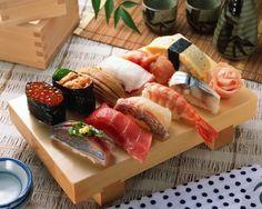 at meal — Sushi(寿司) Japanese Taste, Japanese Food Sushi, Sushi Food, Sushi Recipes, Seafood Recipes, Food Wallpapers, Oishi Sushi, Kinds Of Sushi, Homemade Sushi