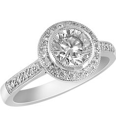 b7e8ac7bc4293f 77pt round brilliant cut diamond deco inspired ring. Designed &  manufactured by Avanti. Available