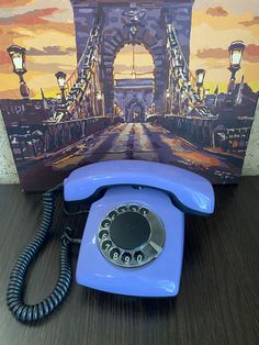 Rare Vintage Purple phone,old rotary phone,Soviet phone,circle dial rotary phone,vintage phone,Old Dial Desk Phone,Lilac phone,Homephone Retro Phone, Purple, Lilac, Orange Phone, Gold Ring Photo, Handmade Jewelry Box, Pay Attention To Me, Vintage Phones, Tracking Number