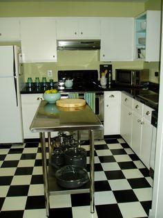 Love this kitchen....retro kitchen redo