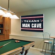 Houston Texans Man Cave 3' x 5' Flag - Navy Blue/White.  Well this would be for me!