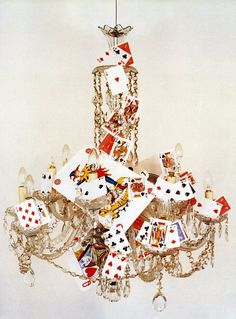 Playing cards chandelier by Tim Walker for Casa Vogue