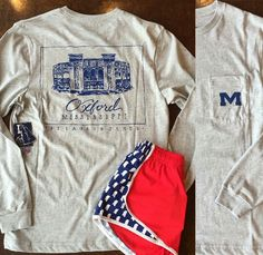 best sneakers 55233 7e4f0 Ole Miss shirt. Mississippi red white blue shorts. Bella rose boutique Ole  Miss Apparel