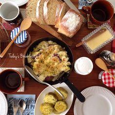 サツマイモグラタンで朝ご飯♩