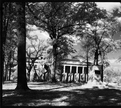 """""""Silent Sam"""" monument, Graham Memorial :: Hugh Morton Collection of Photographs and Films. Copyright, University of North Carolina at Chapel Hill Library."""