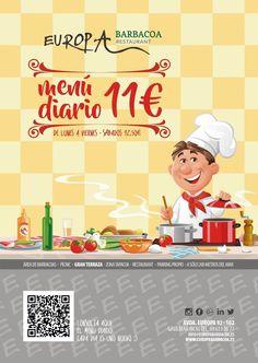 CONSULTA NUESTRO MENÚ DIARIO Consulta nuestro menú a diario en nuestra web. www.europabarbacoa.es #menudiario