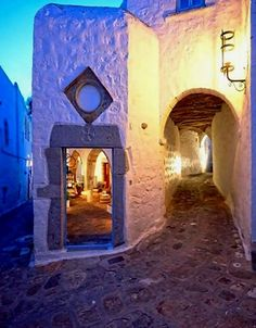 Chora, Patmos Island, Greece Is this where John wrote the book of Revalations