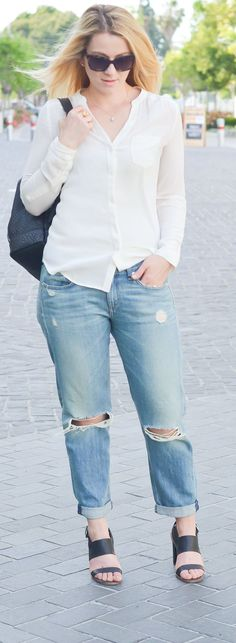 Boyfriend Jeans Outfit Ideas for Spring