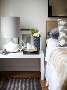 Beautiful. Simple, calm and pretty. Just the way a bedroom SHOULD be! Image by Emily Johnston Anderson, via desiretoinspire.