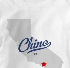 6013f5d43 Chino California CA MAP Souvenir T Shirt All Sizes   Colors
