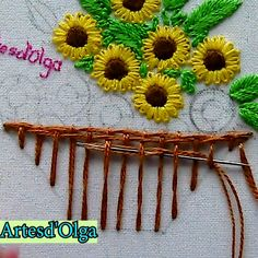 all types of hand embroidery stitches Diy Embroidery Patterns, Basic Embroidery Stitches, Hand Embroidery Videos, Embroidery Stitches Tutorial, Embroidery Flowers Pattern, Creative Embroidery, Simple Embroidery, Learn Embroidery, Silk Ribbon Embroidery