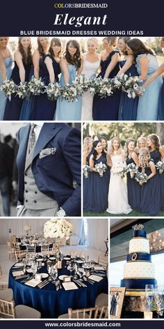 Plum, burgundy and navy blue wedding with gold accents for fall & winter wedding Casual Bridesmaid Dresses, Navy Blue Bridesmaid Dresses, Winter Wedding Colors, Blue Wedding, Trendy Wedding, Blue Silver Weddings, Wedding Blush, Wedding Ideas, Wedding Vows
