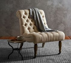 Carolyn Tufted Slipper Chair | Pottery Barn