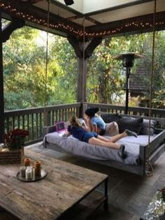Porch bed swing - Would love this! Eloisa Valdez eloisa_valdez Patio Porch bed swing - Would love this! Eloisa Valdez Porch bed swing - Would love this! eloisa_valdez Porch bed swing - Would love this! Patio Porch bed swing - Would love this! Farmhouse Front Porches, Rustic Porches, Screened In Porch Diy, Back Porches, Rustic Patio, Farmhouse Windows, Rustic Outdoor, Back Yard Porch, Screened Porch Furniture