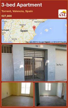 3-bed Apartment in Torrent, Valencia, Spain ►€27,800 #PropertyForSaleInSpain