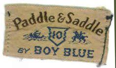 Vintage clothing label - Paddle & Saddle by Boy Blue