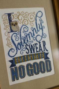 """I Solemnly Swear"" Cross Stitch - NEEDLEWORK #crossstitchpatterns"