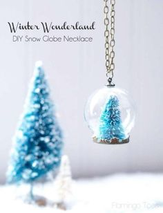 DIY Snow Globe Necklace- Tatertots and Jello All Things Christmas, Holiday Fun, Christmas Holidays, Christmas Ornaments, Diy Snow Globe, Snow Globes, Homemade Gifts, Diy Gifts, Do It Yourself Baby