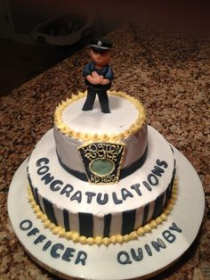 How To Make A Police Badge Cake