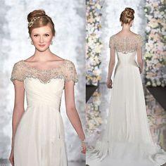 db206ff4df6f Stunning Wedding Wraps Jacket Rhinestones Beading Bridal Bolero Cap Sleeve  Shawl