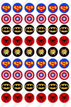 INSTANT DOWNLOAD Super Hero logos 4X6 14mm round Digital | Etsy Superhero Party Favors, Girl Superhero Party, Superhero Logos, Superman Party, Avengers Party Decorations, Bottle Cap Images, Fathers Day Crafts, Digital Collage, Collage Sheet
