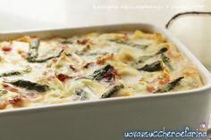 """Domenica scorsa ho provato una versione di lasagne agli asparagi e prosciutto, una ricetta che ho trovato scartabellando le mie """"milamila""""riviste che cons"""