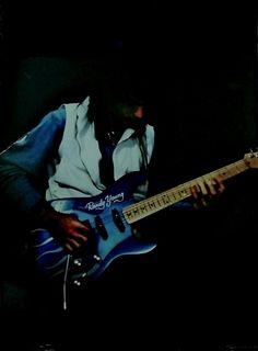 Guitarist Randy Young & his Custom Made1983 USA Charvel