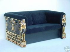 """Art Deco """"King Tut"""" Couch"""