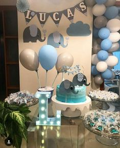 50 Awesome Baby Shower Themes and Decorating Ideas for Boy - Jen's baby shower - elephant theme - Baby Shower Favors, Baby Shower Cakes, Baby Shower Parties, Baby Shower Themes, Baby Shower Invitations, Baby Shower Gifts, Shower Ideas, Baby Boy Babyshower Themes, Office Baby Showers