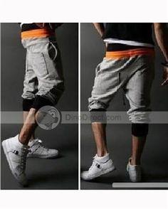 Bomcilla™ Two Tone Cotton Blends Lace Up Mid Rise Men Capri Pants