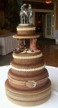 Love this Idea of a western cake for a wedding