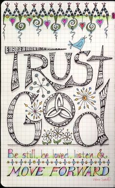 visual blessings: Trust God and Move Forward Doodle. @Jackie Godbold Godbold van der Stoep