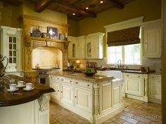 tuscan architecture | tuscan kitchen design / tuscan cabinetry / tuscan tile floors