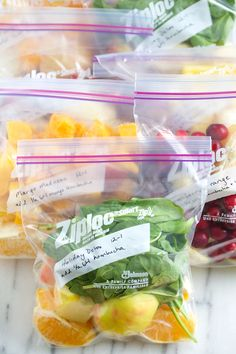 Breakfast help: Inspiration for healthy, make-ahead freezer smoothie packs to help make busy mornings a little less busy.| GI 365