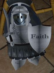 armor of God craft using a balloon and paper.  free download provided