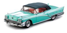 Sun Star 1958 Buick Limited Soft Top Convertible in Green Mist 1:18 Scale Diecast Car.