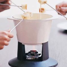 Emmental and Gruyère are the most commonly used cheeses in a classic fondue, but… Fondue Recipes, Cooking Recipes, Fondue Ideas, Copycat Recipes, Nye Recipes, Yummy Recipes, Epicurious Recipes, Kabob Recipes, Sauces