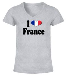 47f7eba11d42 I love France - V-neck T-Shirt Woman  Shirts  DanceTshirt