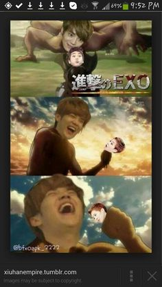 kekeke now this is Luhan is his natural habitat and his source of food is XIumin kekekekeke RLAB~! you go Luhan~
