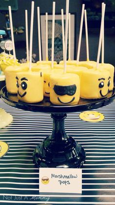 Emoji Graduation Party marshmallow pops