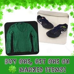 MAKE A BUNDLE OFFER!🍀Happy St. Patrick's Day!☘️🌈 HI! I'm fairly new and so far my first 6 months has been good. The majority of girls here are so nice.(Well...most☺️🙂) I just want to thank you guys for sharing my stuff. (I also share yours every time you share mine, unless you don't have any posts so I just share your picture😎) I promise to always be an awesome posher!👍🏼I'm a top rated seller, fast shipper, posh mentor, top 10% sharer. (Same day shipping except after 1pm Mon-Fri and…