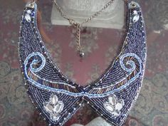 Items similar to Blue collar bib on Etsy Animal, My Love, Diy, Blue, Jewelry, Products, Fashion, My Boo, Do It Yourself