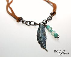 Light As a Feather Necklace  Boho feather pendant by NairandBjorn, $30.00