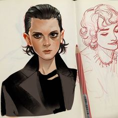 Fanart 11 // Stranger Things By. Stranger Things Aesthetic, Stranger Things Funny, Eleven Stranger Things, Stranger Things Netflix, Character Art, Character Design, Fanart, Movies And Series, Arte Sketchbook