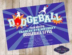 items similar to dodgeball invitation boy dodgeball invitation dodgeball printable dodgeball party dodgeball birthday invitation party printable on