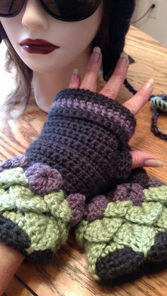Petula Fleece Lined Gloves Elven Collection ( hat sold separately) — Alily Crochet