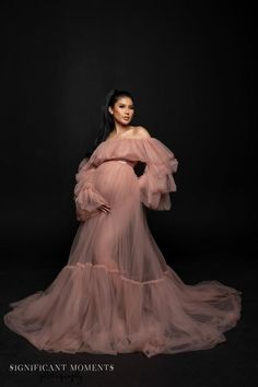 Tulle Maternity Dress for Photography Pre Raphaelite Inspired Dress Boho Maternity Gown Euphemia Pregnancy First, Pregnancy Trimesters