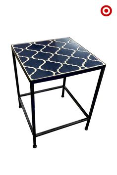 Add A Handsome Little Accent Table To Your Patio Or Deck And Call Your  Outdoor Living Room Complete. This Side Table By Threshold Has A Navy Stone  Top And ...